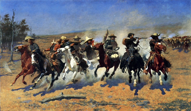 A Dash for the Timber - Frederic Remington