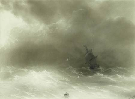 A Strong Wind - Ivan Aivazovsky