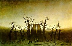 Abbey in the Oakwood - Caspar David Friedrich