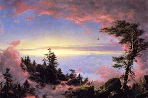 Above the Clouds at Sunrise - Frederic Edwin Church