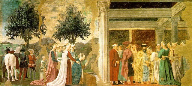 Adoration of the Holy Wood - Piero della Francesca