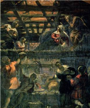 Adoration of the Shepherds - Jacopo Robusti Comin Tintoretto