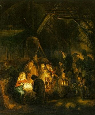 Adoration of the Shepherds - Rembrandt van Rijn