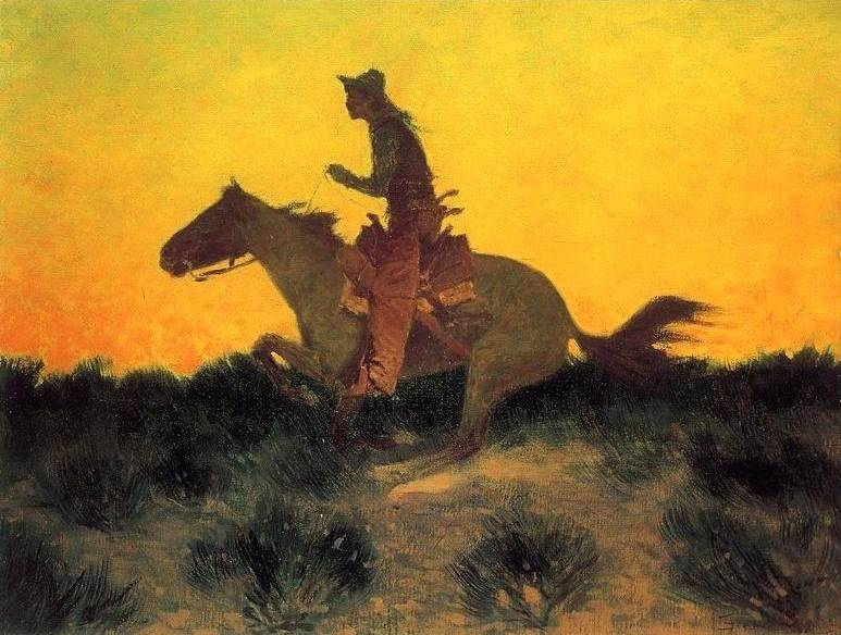Against the Sunset - Frederic Remington