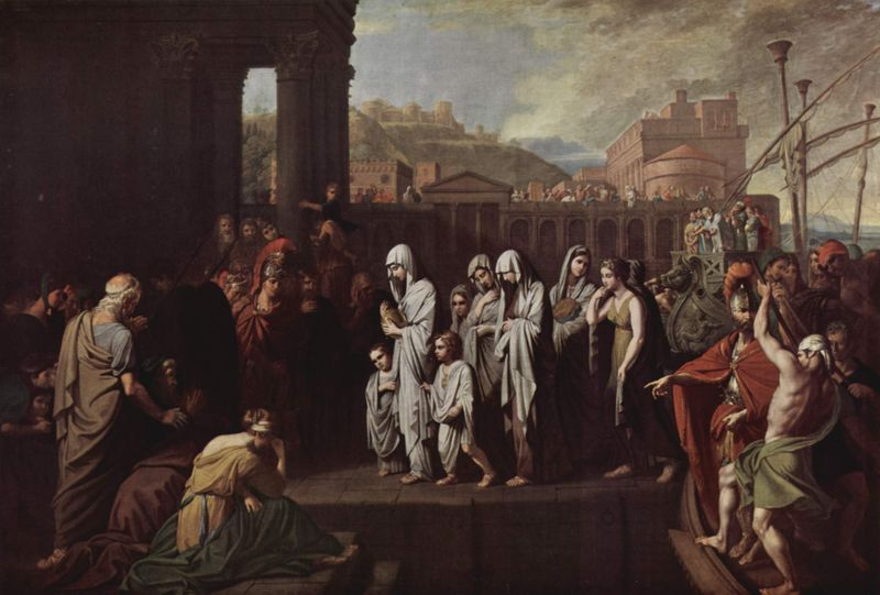 Agrippina Landing at Brundisium with the Ashes of Germanicus - Benjamin West