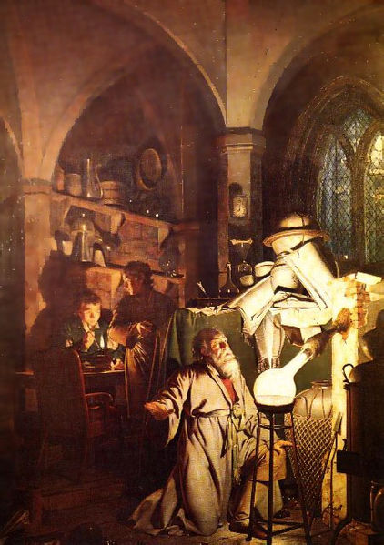 Alchemist in Search of the Philosopher's Stone - Joseph Wright of Derby
