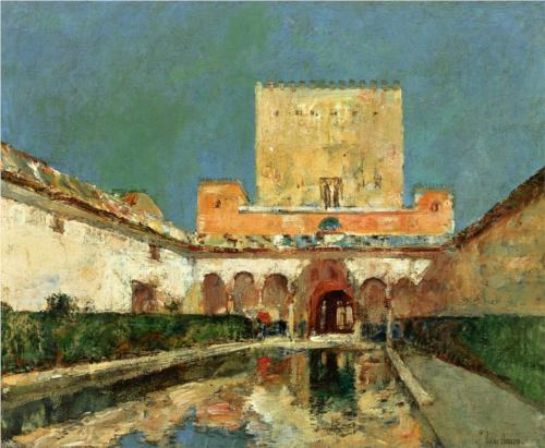 Alhambra Summer Palace of the Caliphs, Granada - Childe Hassam