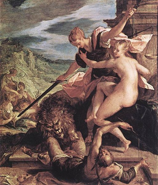 Allegory or The Triumph of Justice - Hans Von Aachen
