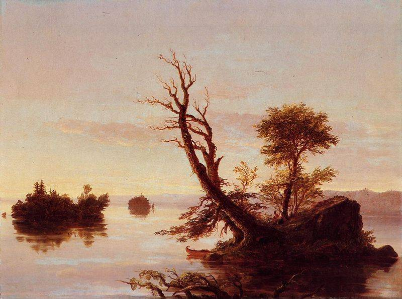 American Lake Scene - Thomas Cole