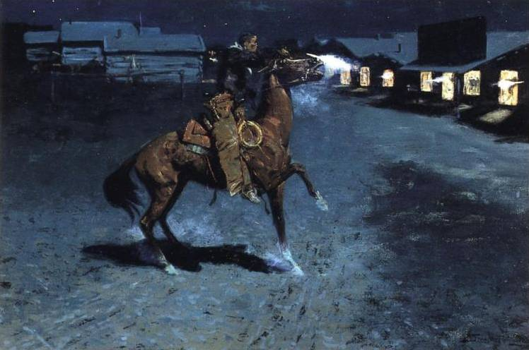 An Argument with the Town Marshall - Frederic Remington