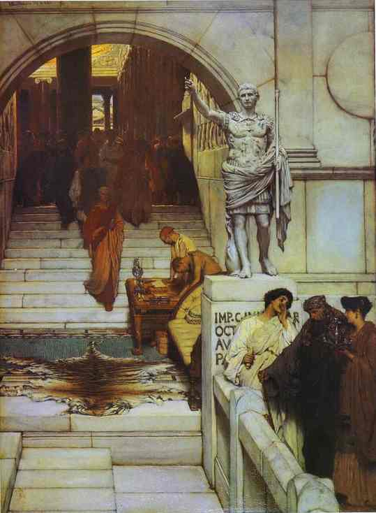 An Audience at Agrippa's - Lawrence Alma Tadema