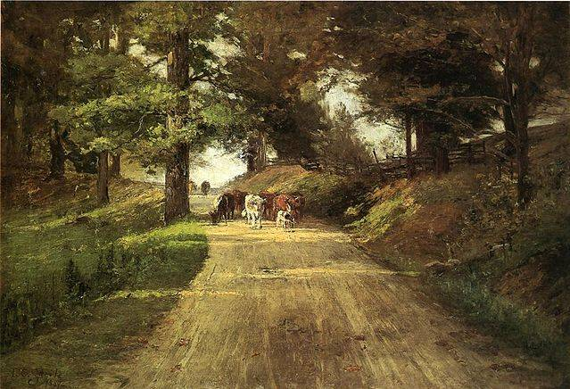 An Indiana Road - Theodore Clement Steele