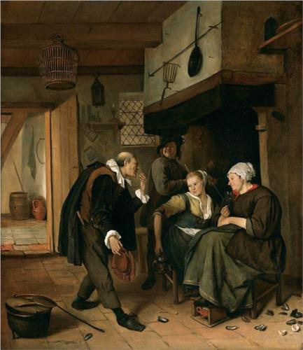 An Old to Young Girl - Jan Steen