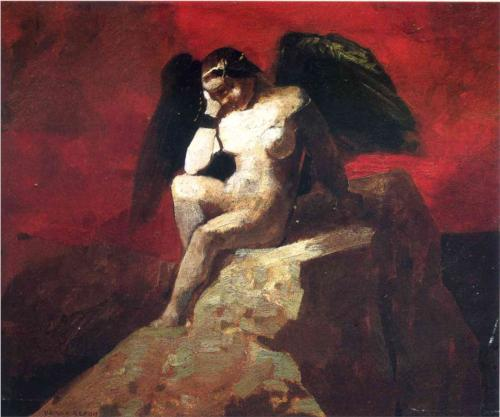 Angel in Chains - Odilon Redon