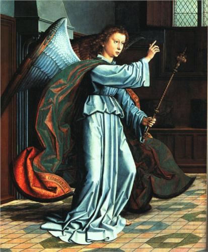 Angel of the Annunciation - Gerard David
