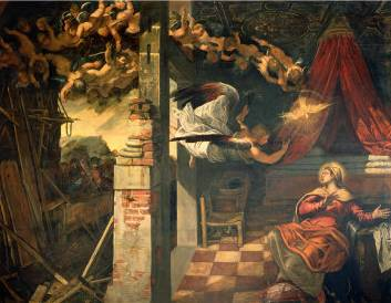 Annunciation - Jacopo Robusti Comin Tintoretto