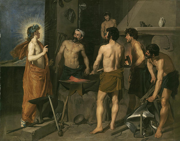 Apollo in the Forge of Vulcan - Diego Velazquez