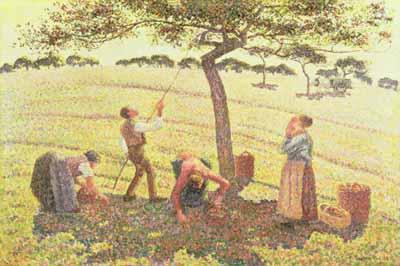 Apple Picking at Eragny-sur-Epte - Camille Pissarro