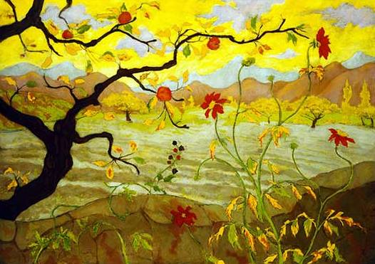 Apple Tree with Red Fruit - Paul Ranson