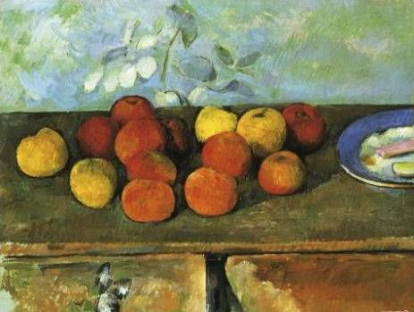 Apples and Plate of Biscuits - Paul Cezanne