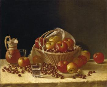 Apples, a Basket and Chestnuts - John F Francis