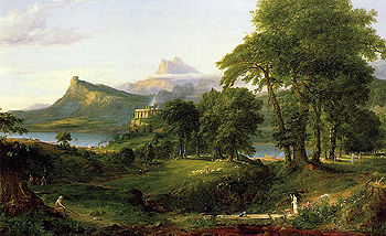 Arcadian or Pastoral State Course of Empire - Thomas Cole