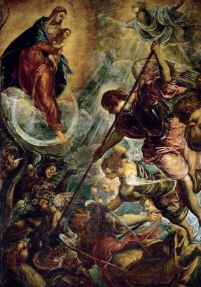 Archangel Michael Fights Satan - Jacopo Robusti Tintoretto