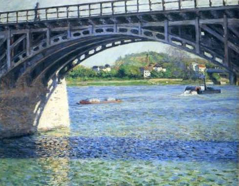 Argenteuil Bridge and the Seine - Gustave Caillebotte