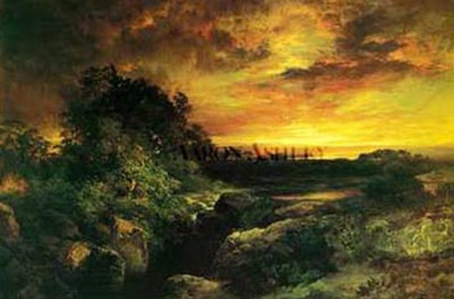 Arizona Sunset near Grand Canyon - Thomas Moran