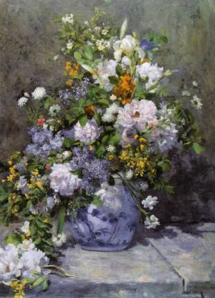Arrangement of Flowers - Pierre Auguste Renoir