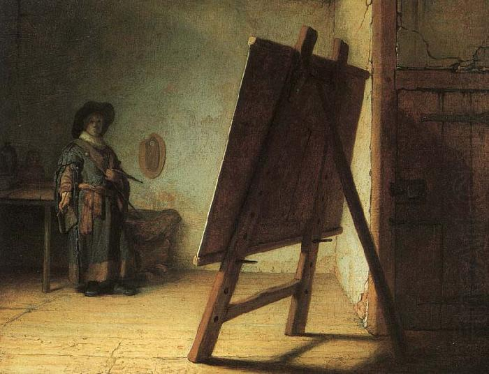 Artist in His Studio - Rembrandt van Rijn