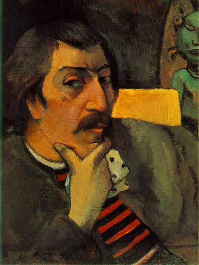 Artist with the Idol - Paul Gauguin