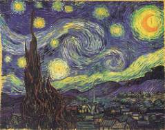 Starry night over St. Remy 1889 Vincent van Gogh