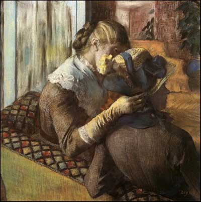 At the Milliner's - Edgar Degas