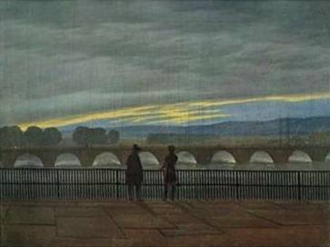 August Bridge in Dresden - Caspar David Friedrich
