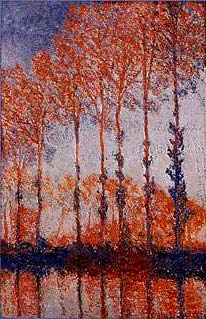 Autumn Poplars along the River Epte - Claude Monet