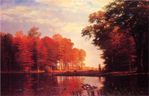 Autumn Woods - Albert Bierstadt