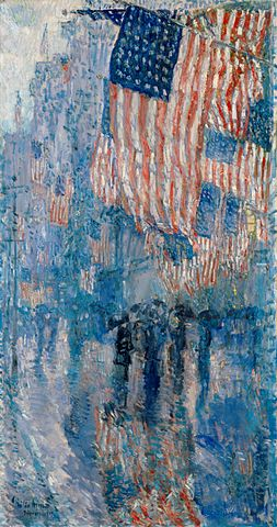 Avenue in the Rain - Childe Hassam