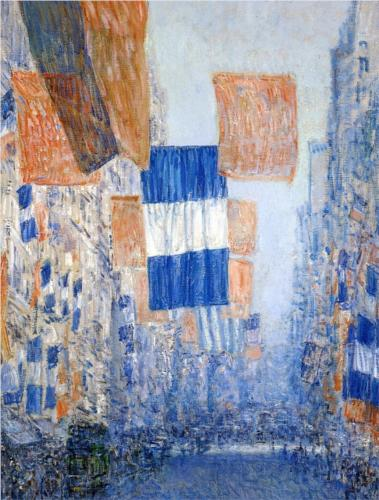 Avenue of the Allies 1918 - Childe Hassam
