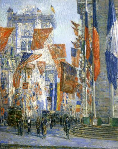 Avenue of the Allies II - Childe Hassam