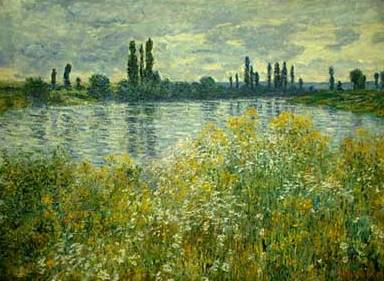 Banks of the Seine at Vétheuil - Claude Monet