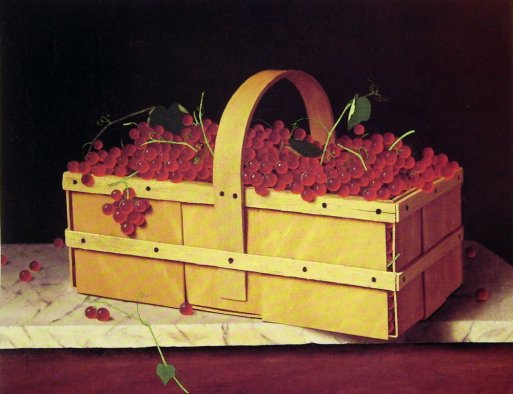 Basket of Catawba Grapes - William Harnett