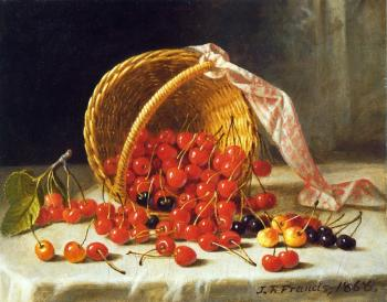 Basket of Cherries - John F Francis