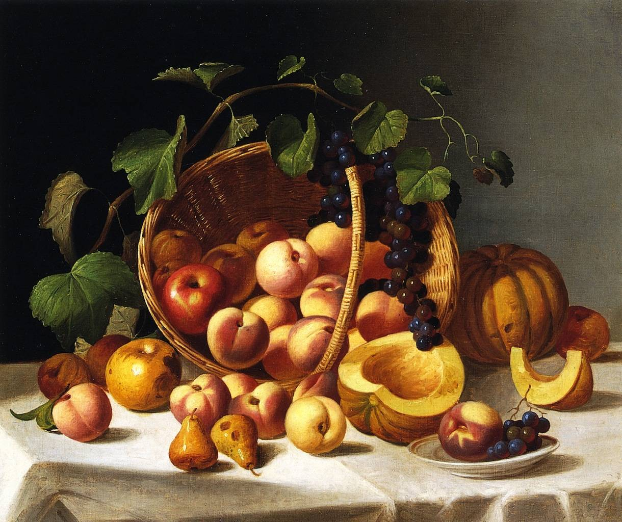 Basket of Fruit - John F Francis