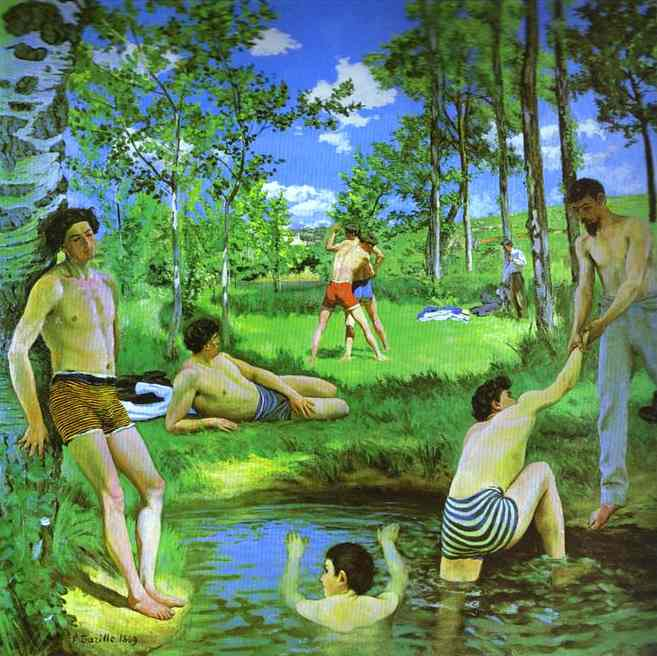 Bathers (Summer Scene) - Frederic Bazille