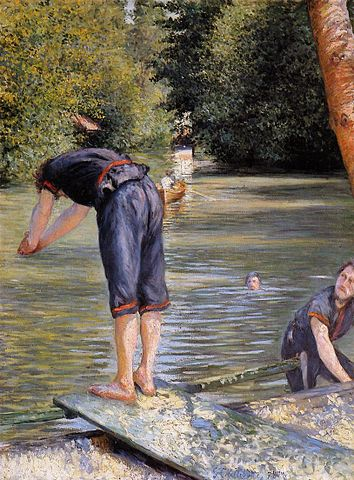 Bathers - Gustave Caillebotte