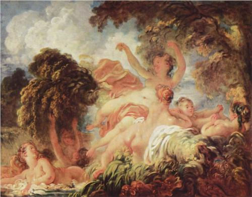 The Bathers - Jean Honore Fragonard