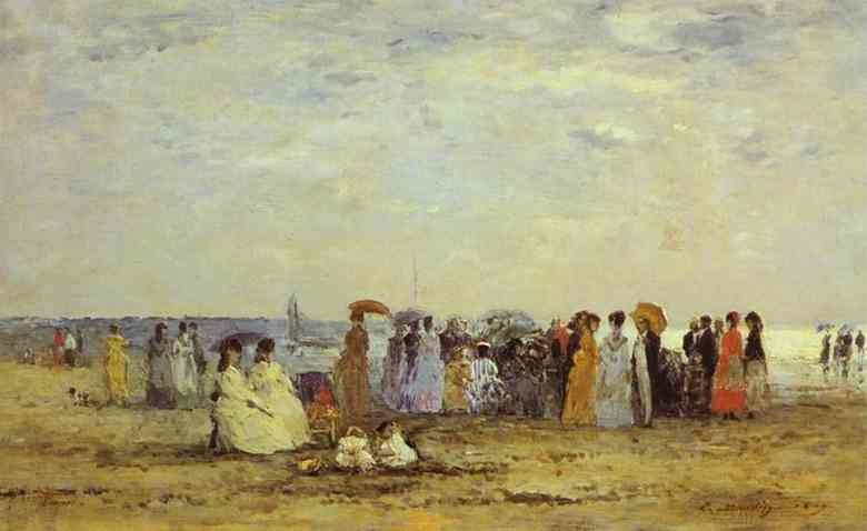 Bathers on the Beach at Trouville - Eugene Boudin