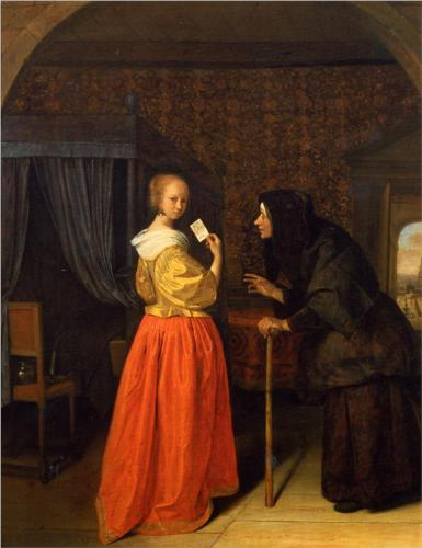 Bathsheba Receiving David's Letter - Jan Steen