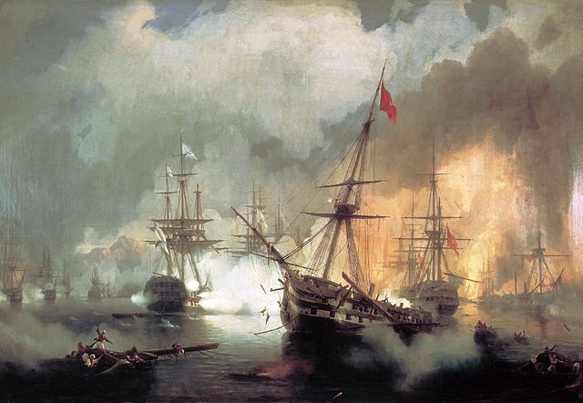Battle of Navarino - Ivan Aivazovsky